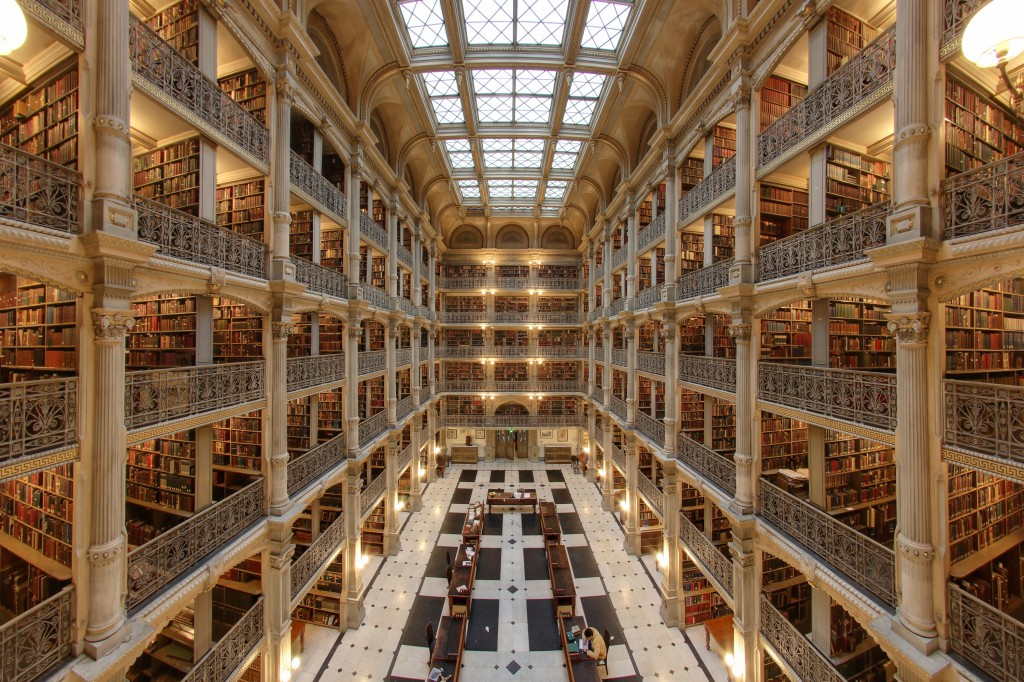 View of Peabody Library at JHU